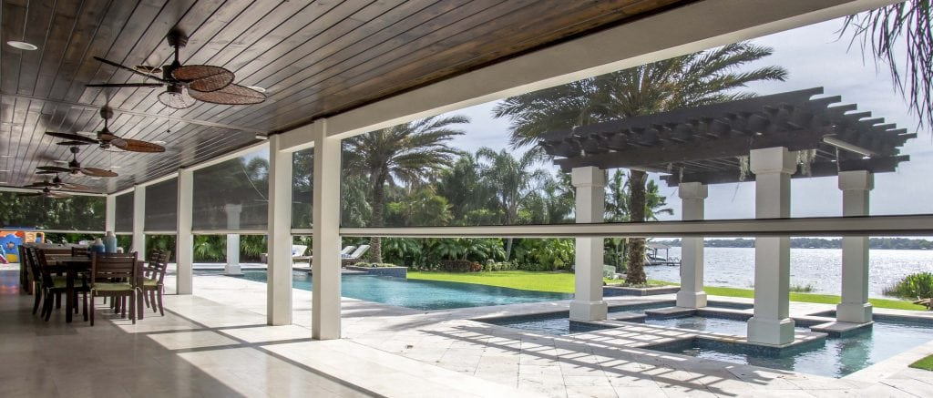 Orlando motorized screens orlando retractable awnings for Motorized screens for patios pricing