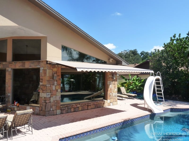 beat the scorching florida sun with retractable awnings
