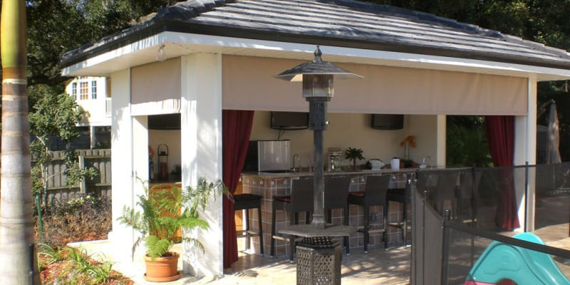 Outdoor Kitchen Shade in Orlando, Florida