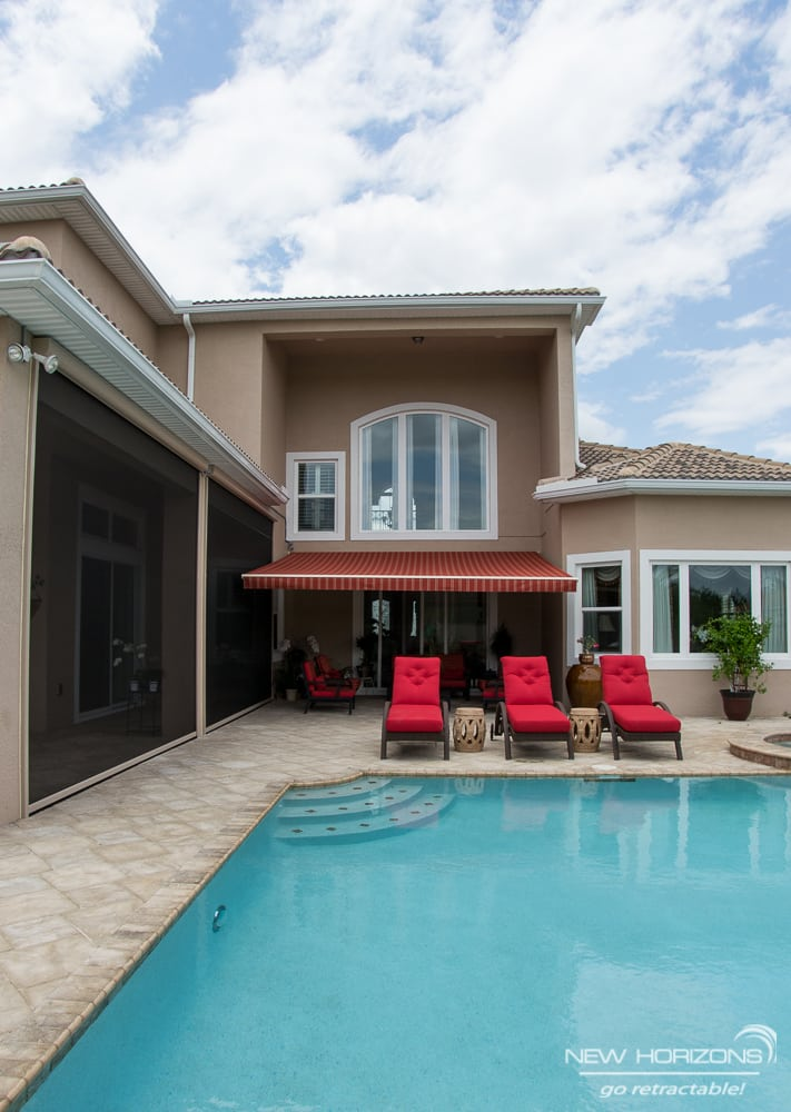 Motorized Retractable Awning and Screens | Orlando ...